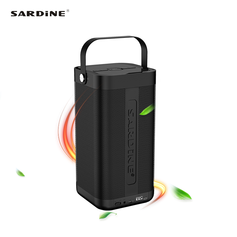 Sardine A9 portable bluetooth speaker 5200mAh rechargeable battery 16W high power MP3 music amplifier soundbar USB TF card Aux mymei groupie mini speaker portable bluetooth mp3 no high fidelity high wire subwoofer active low outdoors free music speaker for
