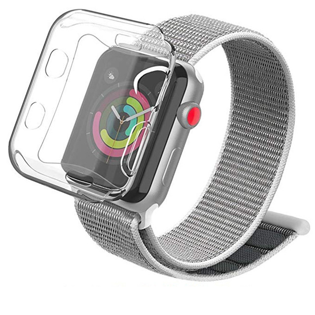 ASHEI Breathable Lightweight Nylon Strap For Apple Watch 38mm 42mm Band With Soft TPU Case Sport Loop Bands For iWatch  3 2 1 | Watchbands