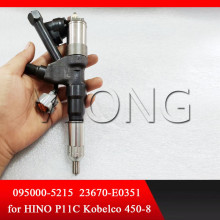 Nozzle Injector 5215 Diesel Common Rail Injector Assembly 095000-5215 Fuel Diesel Injectors 23670-E0351 0950005215 for HINO P11C diesel fuel common rail injector dismounting puller tool for all brands injectors common rail injector removal tool