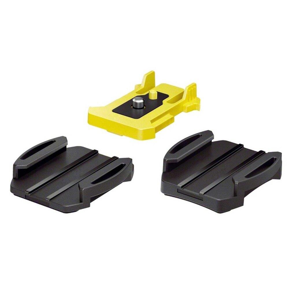 Rollei Accesorios básicos adhesivo montaje Pack-1 Plana 1 curva y 1 montaje superior para Sony Action Cam As100v AS200V FDR-X1000V