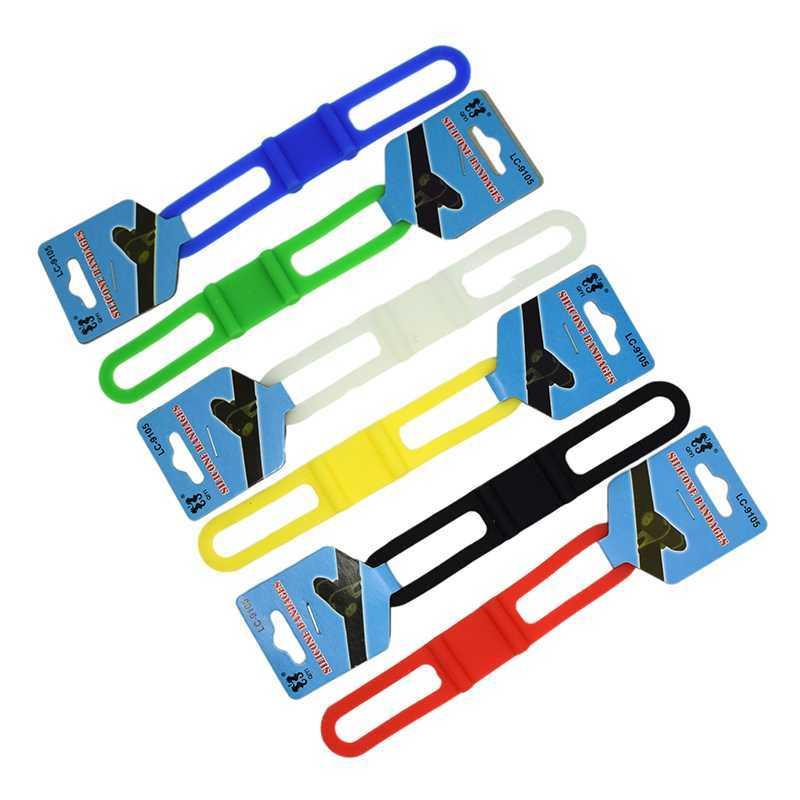 Bicicletta della fascia fissaggio della bici fascia silicone cinghia elastica