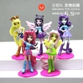 5 PCS/SET 6.5cm Cute little PVC Lovely Horse Poni Birthday Party Tool Action Toy Figures Doll Girl Christmas Gift pokemon