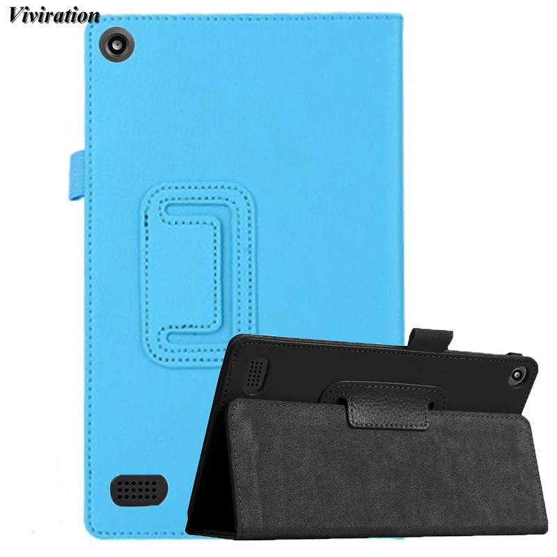 Viviration Fashion PU Tablet PC Case Stand Cover For Amazon Kindle Fire HD 7 2015 Case 2 ...