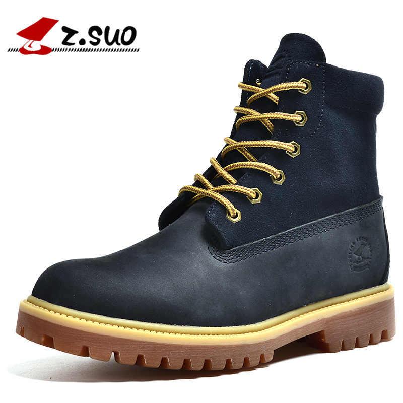 Z. SUO 1208 классические американские желтые мужские Ботинки martin из  нубука и коровьей кожи f11241c826e