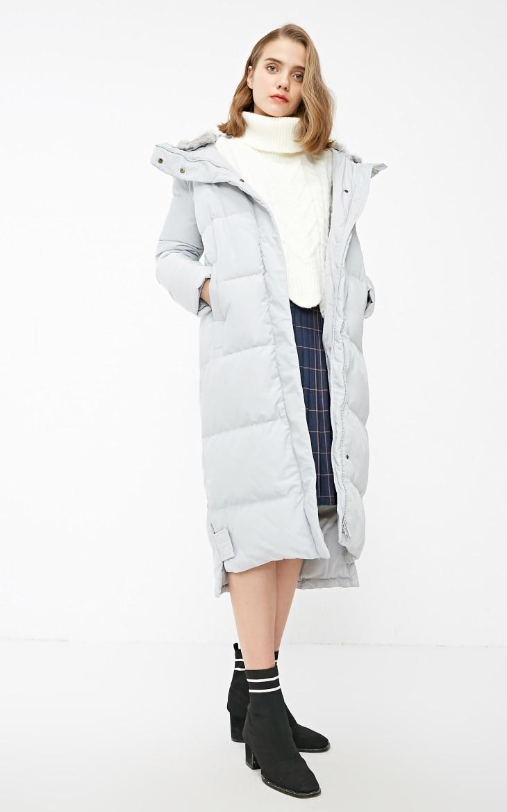 Vero Moda new detachable rabbit fur hooded long down jacket women | 318312503 13