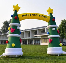 X153 4m inflatable christmas archway christmas tree arch outdoor christmas arch for decoration,christmas tree decorations