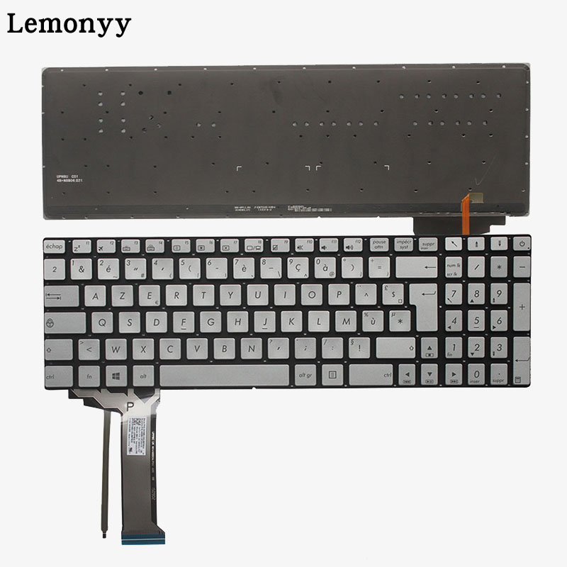 цены French laptop keyboard FOR ASUS GL552 GL552J GL552JX GL552V GL552VL GL552VW N551 N551J N551JB N551JK N551JM N551JQ backlit FR