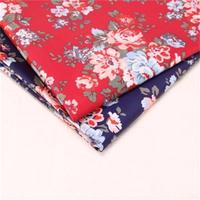 Rose Fabric Pastoral Cotton Classic CK Over Plastic Waterproof Canvas DIY Fabric
