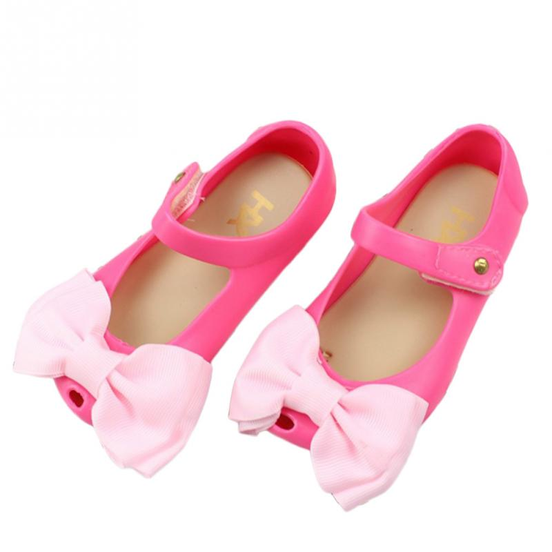 NEW Fashion Sandals For Girl Mini Crystal Shoes Comfortable shoes Childrens Bow Jelly Sandals Shoes Girls Sandals