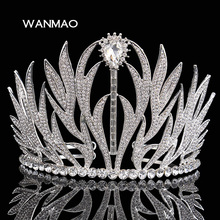 New upscale bridal tiara crown retro Baroque wedding princess hair ornaments wedding jewelry female jewelry   HD314