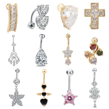 Trendy Fashion Simple Heart Shape Surgical Steel Women Sexy Belly Button Piercing New Hot Body Jewelry For Lady Gift