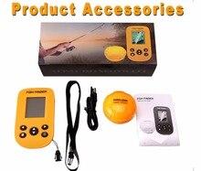 Fish Finder LCD Design Alarm Transducer Waterproof  Fishfinder 100M Ice Fishing Equipment Depth Sounder Portable Sonar Sensor