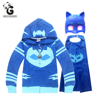 4pcs Set P J T Shirts Mask Suit Boy S Hoodie Coat Children Sweatshirt Boys Hoodies