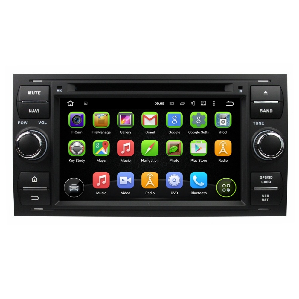 Quad Core 1024*600 HD 2 din 7″ Android 5.1 Car Radio dvd player for Ford Mondeo Focus S-max C-max Fiesta Galaxy Fusion Connect