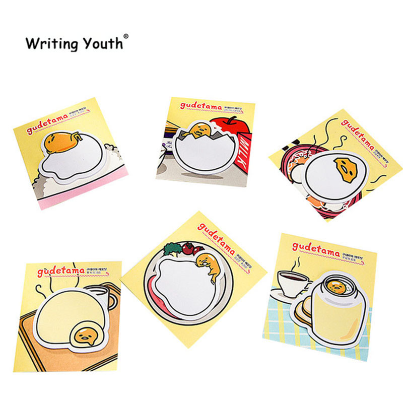 Cute Sanrio Gudetama Lazy Egg Sticky Notes Planner Stickers Page Index Post Office School Supplies Stationery
