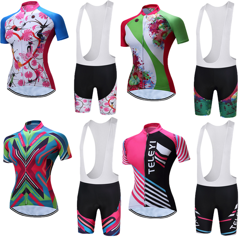2018 Female Cycling Jersey Pro Team Maillot Womens Road Bike Clothing Racing Bicycle Clothes Wear Summer Short Sleeve Shirts