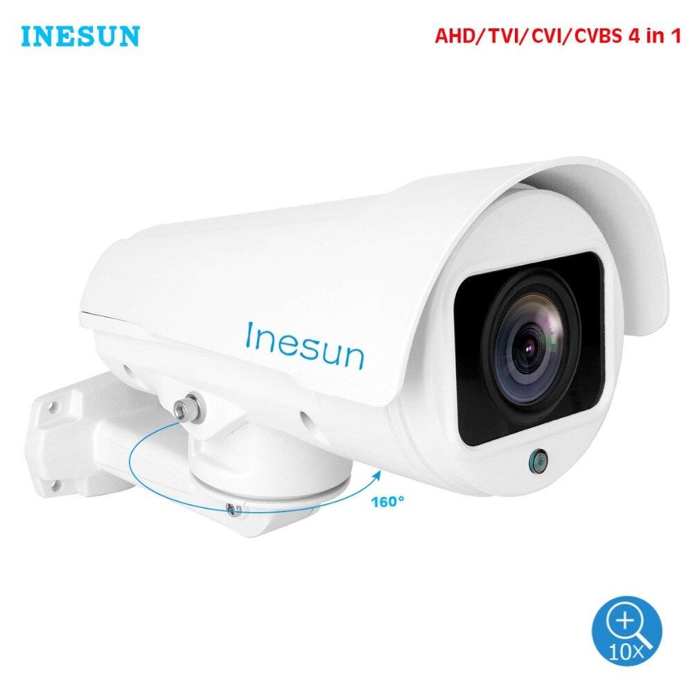 Inesun Outdoor Security Camera 2MP HD 1080P 4 in 1 TVI CVI AHD CVBS 4X 10X