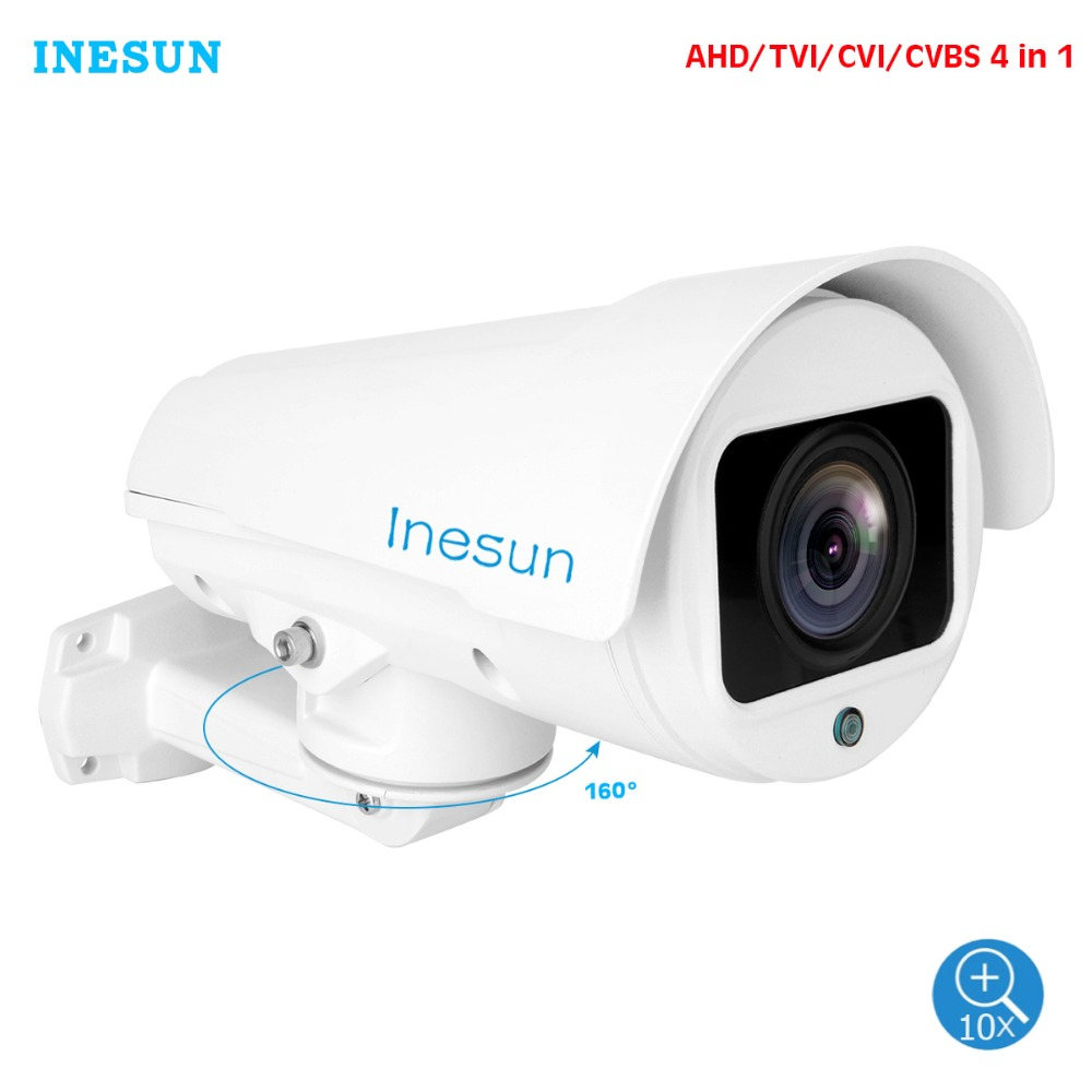 Inesun Outdoor PTZ Camera 2MP 1080P HD AHD//CVI//TVI//CVBS Video Surveillance Cam