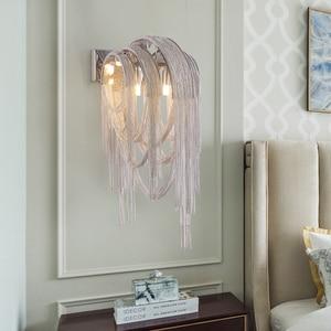 Image 5 - อิตาเลี่ยน Atlantis Luxury Chain Light โคมไฟกระจก Stream sconce ห้องน้ำโคมไฟห้องนอนสำหรับ LOFT decor