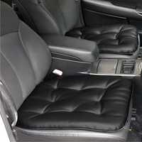 Car Seat Pad Leather Car Seat Cushion Comfort Removable Seat Protector For Car Office Home Use