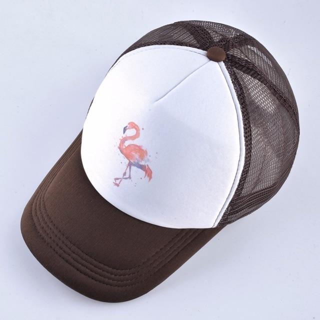 2018 Summer Baseball Cap Women Breathable Mesh Snapback Hip Hop Hat Print Flamingo Trucker Bone Men Outdoor Casual Couple Caps 4