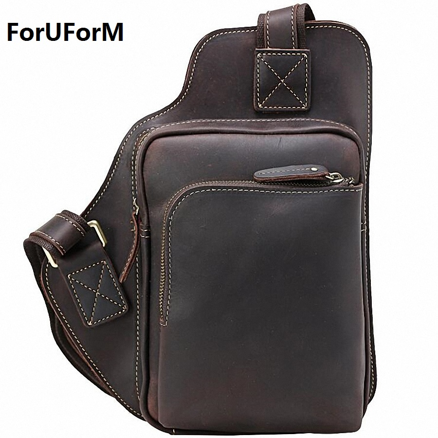 Men leather chest crossbody bag Casual men messenger bag high quality chest waist pack genuine leather messenger bag men LI-1858 раскраски clever рисуем раскрашиваем играем растения
