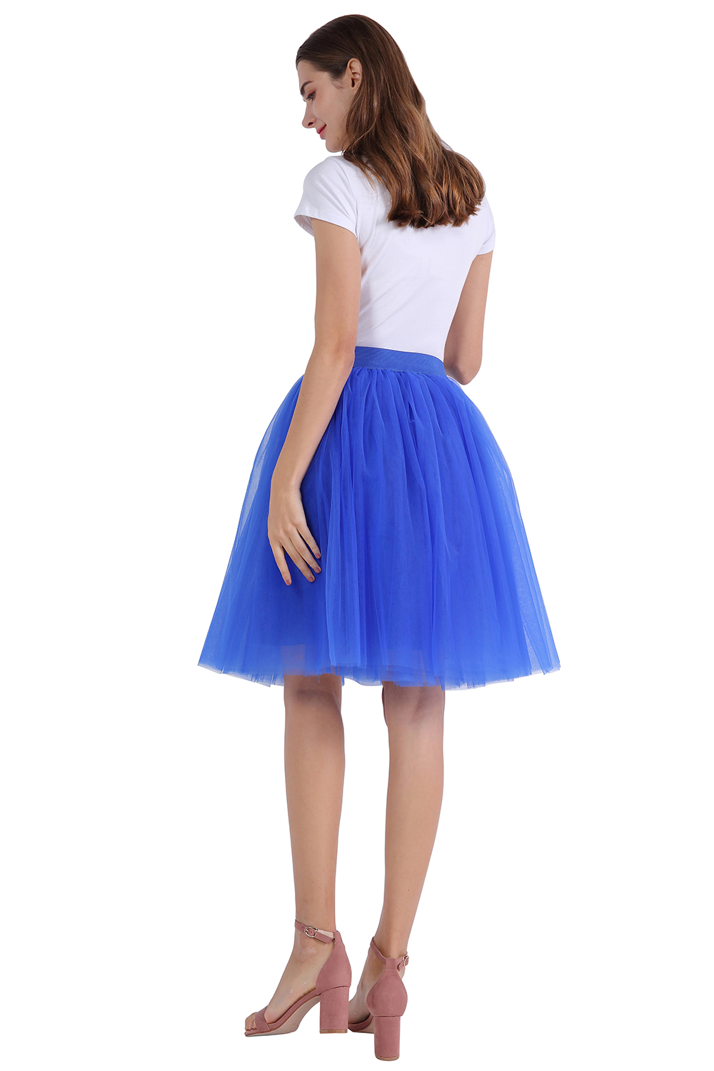 Купить с кэшбэком Rockabilly Short Petticoat Retro Underskirt 7 Layers Tulle Skirt Women Adult Tutu Wedding Accessories