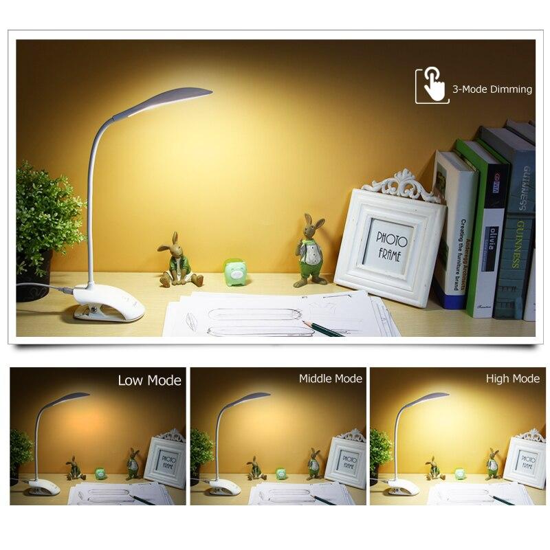 YAGE 14 Stücke LED Schreibtischlampe USB Touch Tischlampe mit Clip - Innenbeleuchtung - Foto 2