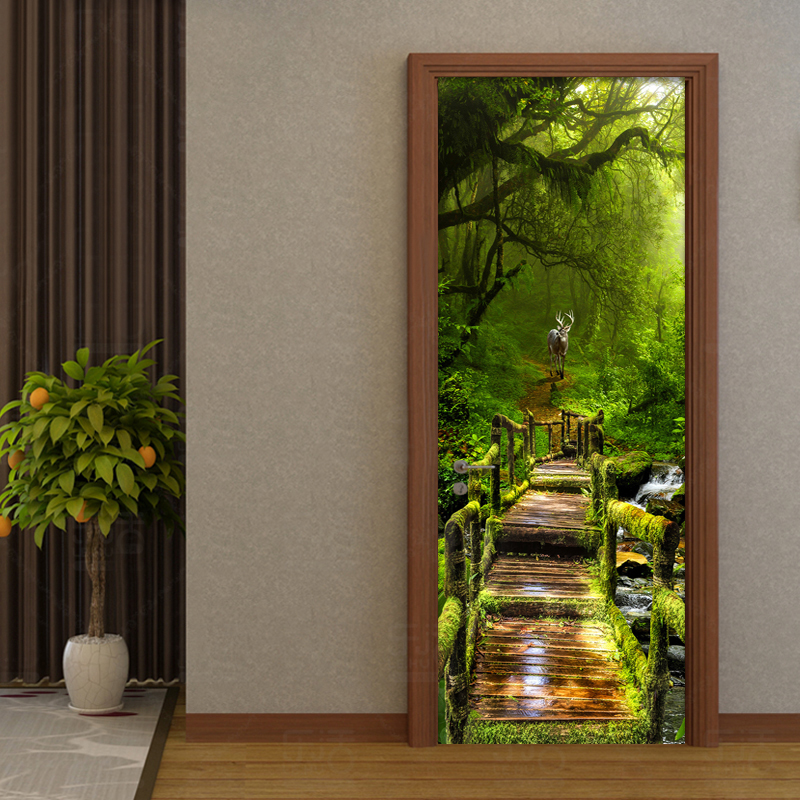 Pvc Door And Pvc Interior Manufacturer: Chinese Style Classic Primary Forest Mural Wallpaper Hotel