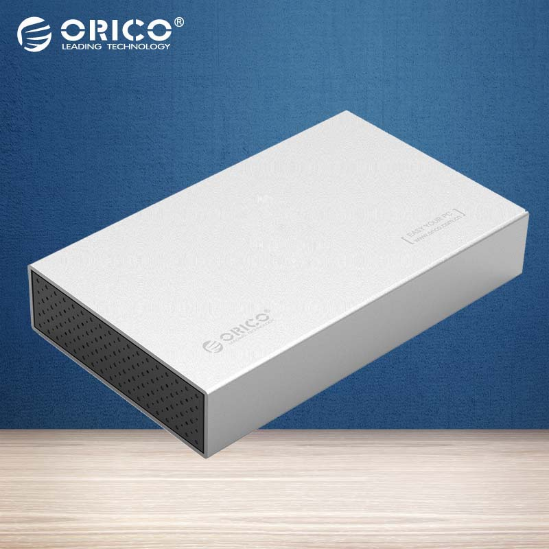 ORICO New Aluminum SATA 3.0 to USB3.0 2.5 / 3.5 inch SSD / SATA HDD Enclosure HDD Case for Notebook (Not including HDD)- 3518S3
