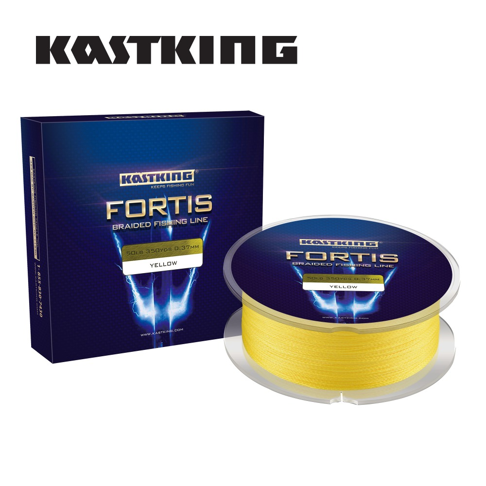 KastKing Fortis 320M 4Strand Multifilament Braided Fishing Line Super Strong 8 50 65 80LB PE  Braided Fishing Line
