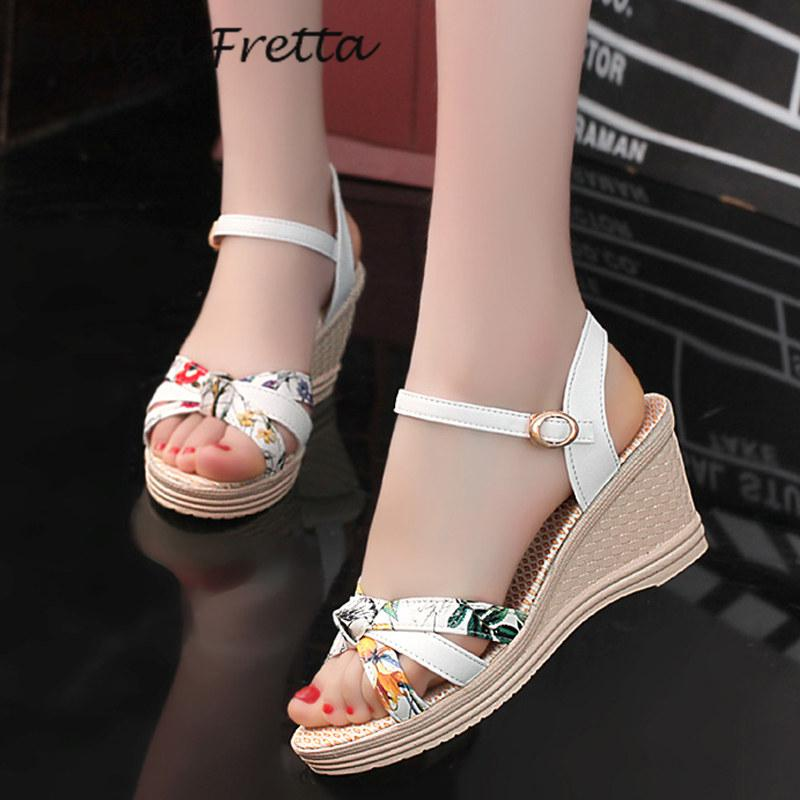 2017 New Summer Sandals Women Shoes Bohemian Style Wedges Platform Sandals Shoes Women Fashion Casual Shoes Wedge Sandals phyanic 2017 gladiator sandals gold silver shoes woman summer platform wedges glitters creepers casual women shoes phy3323