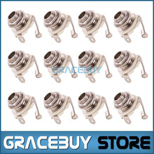 Guitar Jack Stereo Socket Silver 12 Pcs 1/4 Inch 6.35MM Guitarra Output Jack For Electric Guitare Bass New