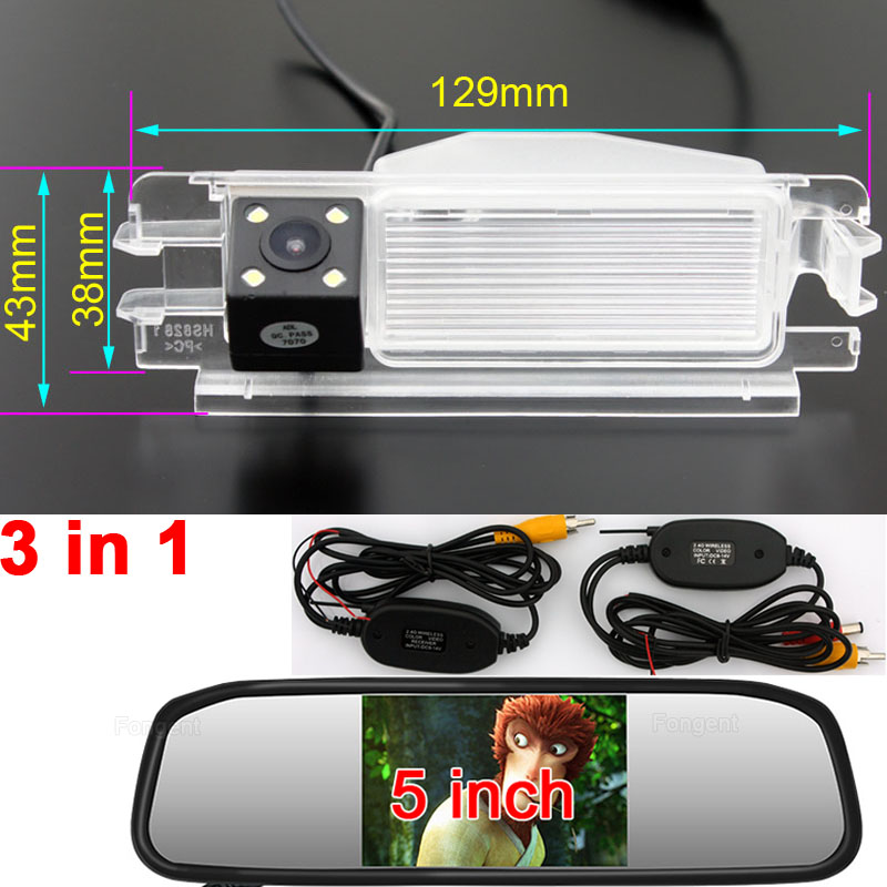 For 2013 Renault Dacia Duster Sandero Car Head Return Reverse Back Up Off Vision Parking Rear View Wireless Auto Camera Monitors