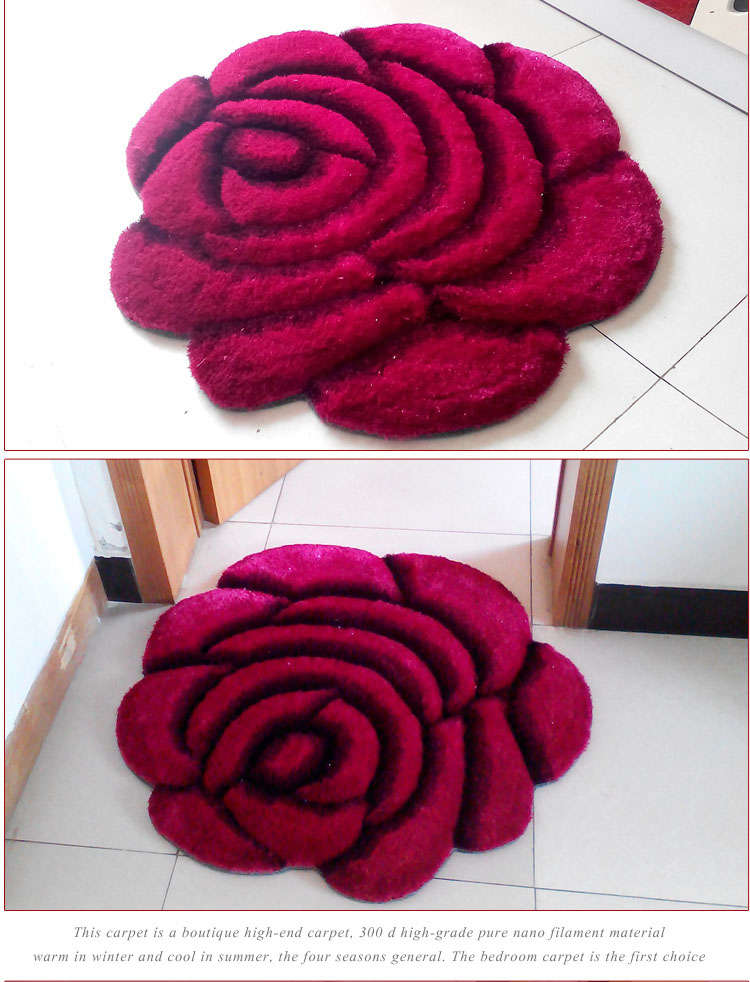 Объемный ворсистый круглый ковер с объемным цветком, коврики для дома, гостиной, свадьбы, тапеты, ворсистые ковры, толстые круглые ковры с цветочным рисунком