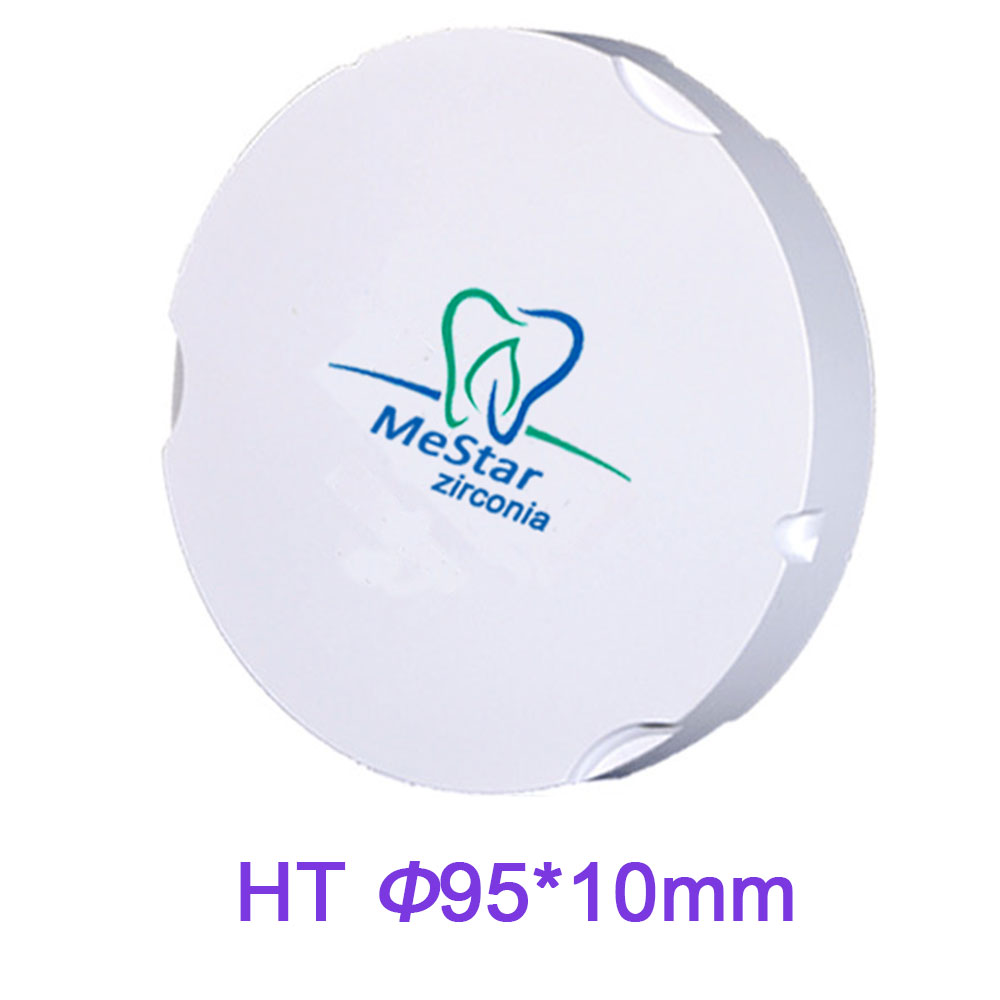 Ukuran 95mm X 10mm Tinggi Disc Zirkonia Tembus Kompatibel dengan Sistem Penggilingan CADCAM ZirkonZahn