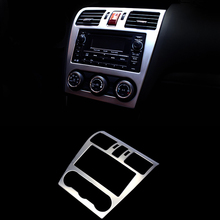 Car Styling Stainless Steel Navigation Panel Sequins Interior dashboard decorative frame Cover For Subaru Forester XV  2013-2016