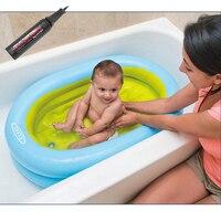 Portable Inflatable Baby Bathtub Children Folding Washing Tub Basin Keep Warm Travel Kids Bath Tub with Free Pump Gift