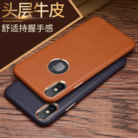 For iphone XS Max Case Luxury Slim Soft Genuine Cowhide Leather Protective Back Phone Case for iphone XR X 8 7 6 6S Plus Capa