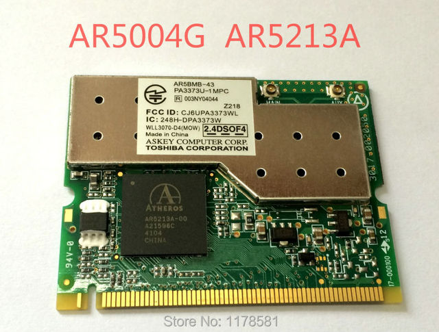 NEW Atheros AR5213A AR5BMB-43 AR5004G108M MIMIPCI wireless card support ROS