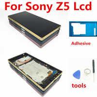 100% dello schermo Originale Per SONY Xperia Z5 LCD Touch Screen Per SONY Xperia Z5 Display Digitizer Assembly E6653 E6603 E6633 LCD