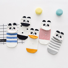5 Pairs/lot Funny Baby Socks for Children Girls Boys Cotton Kids Socks White Stripe Cheap Stuff Multi-color 4183