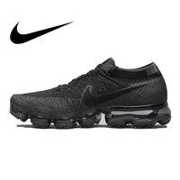 Оригинальный Официальный Nike Air VaporMax Be True Flyknit дышащая Спортивная обувь для мужчин Спорт на открытом воздухе Низкий Топ удобные кроссовки