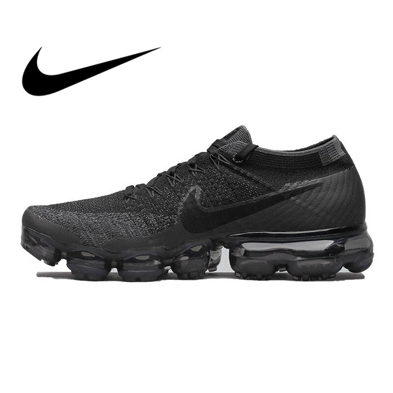 Original Officiel Nike Air VaporMax Être Vrai Flyknit Respirant Chaussures de Course pour Hommes Sports de Plein Air Low Top Confortable Sneaker