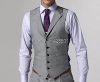 Formal Suit Vest Men Gray Blue Plaid Waistcoats For Men S Wedding Dress Suit Vests Wedding