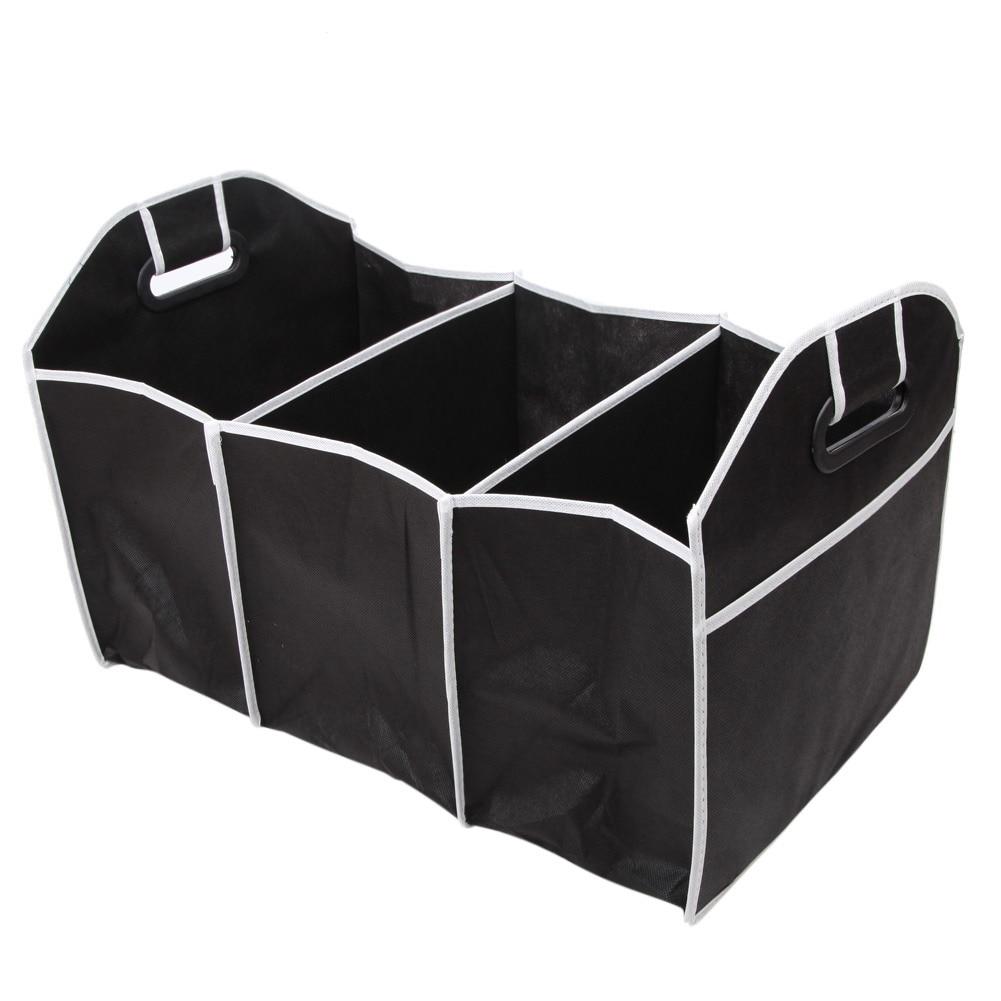 Auto Zubehör Auto Organizer Schwarzen Stamm Faltbare Spielzeug Lebensmittel Lagerung Lkw Container Taschen Box Auto Verstauen Styling New