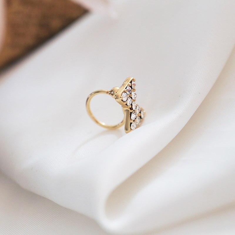 Sansummer 2019 New Hot Fashion Pearl Bowknot Rhinestone Pendant 1PC Drop Earrings For Women Feautiful Girl Popular Jewelry 5373 in Drop Earrings from Jewelry Accessories