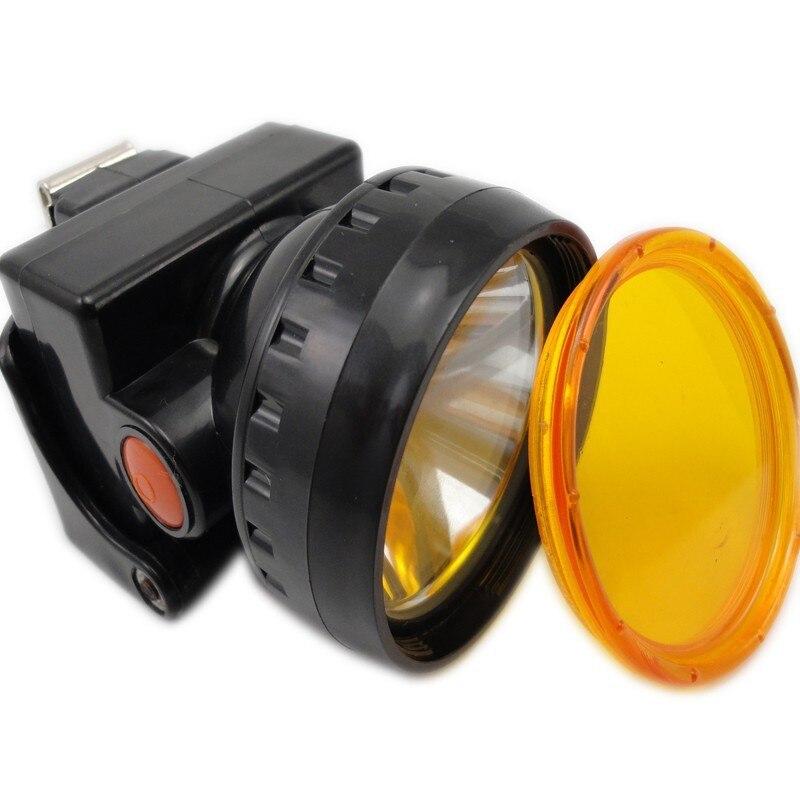 Led Cap Lampă 3W mai luminoasă și mai ușoară cu lentilă de culoare pentru vânătoare Mining Camping Light Free Shipping