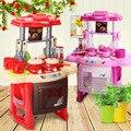 Crianças Que Jogam o Brinquedo Menina Brinquedo Do Bebê Música Grande Jogo Pretensios Cozinha Cozinha Simulação Medida 37*21*47 CM