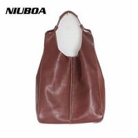 NIUBOA Genuine Leather Shoulder Bags 100% Soft CowhideTote Women Messenger Bag Purse Satchel Handbag Top Quality Composite Set